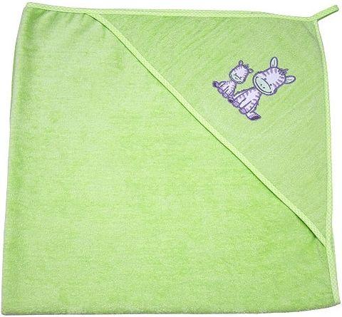 EKO Bambusová osuška s kapucí froté 100x100 cm - sv.zelená