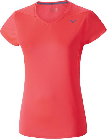 Mizuno DryLite Core Tee Fiery Coral M