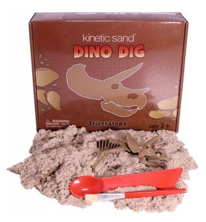 Montessori pomůcky Dino Dig T-RIC (sada s kinetickým pískem)