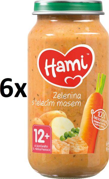 Hami Zelenina s telecím masem - 6x250g