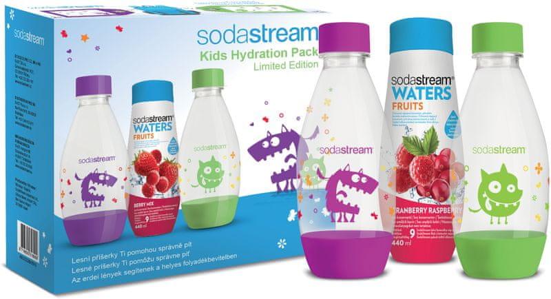 Sodastream Dětský set 2 lahve Příšerky + sirup SODA