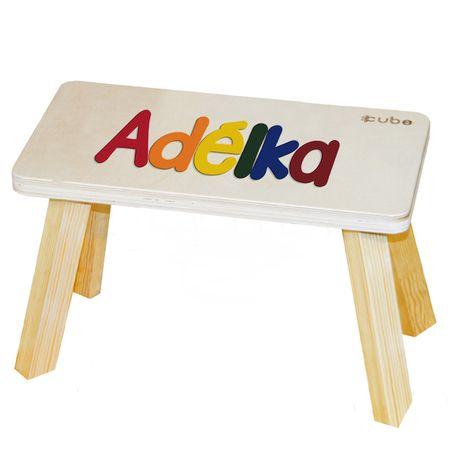CUBS Stolička se jménem vícebarevná Adélka