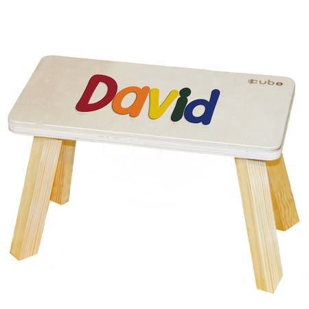 CUBS Stolička se jménem vícebarevná David