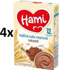 Hami Kaše mléčná krupicová s kakaem - 4x225g