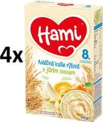 Hami Kaše rýžová s jižním ovocem - 4 x 225g
