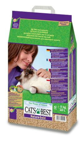 JRS posip Cats Best Nature Gold, 10 l - odprta embalaža