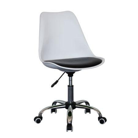 Pisarniški stol OS81, belo/črn