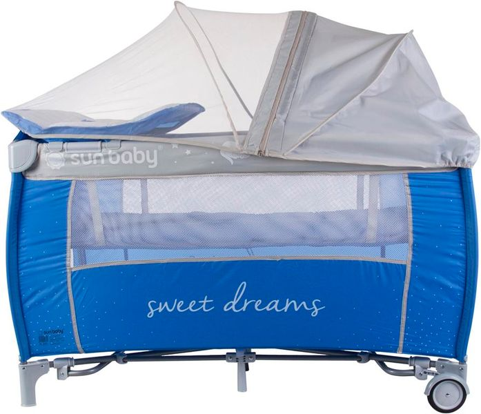 Sun Baby Cestovní postýlka Sweety s vložným lůžkem - tmavě modrá