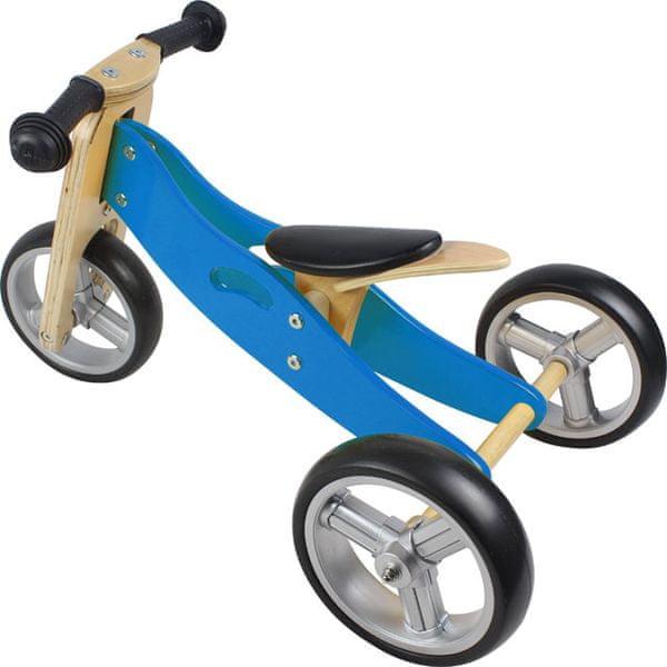 Yookidoo Dřevěné odrážedlo 2v1 mini modrá
