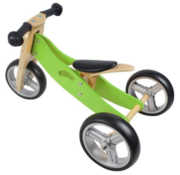 Yookidoo Dřevěné odrážedlo 2v1 mini zelená