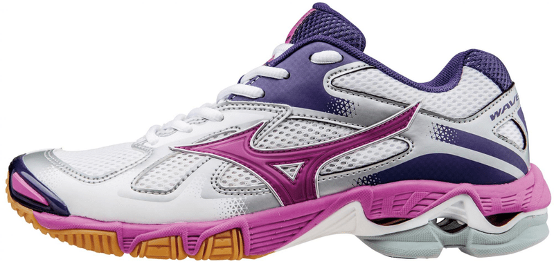 Mizuno Wave Bolt 5 White/Rosebud/Mulberry Purple 7 (40,5)