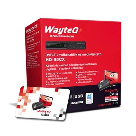 MindigTV Családi csomag Wayteq dekóderrel 6 hónap előre fizetett