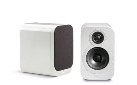 Q Acoustics par kompaktnih Hi-Fi zvočnikov 3010, Bel