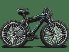 KROSS rower górski Lea R2 czarny-grafitowy-turkus
