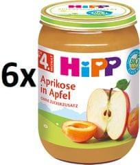 HiPP BIO Jablka s meruňkami - 6 x 190 g