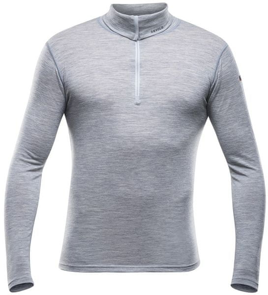 Devold Breeze Man Zip Neck Grey Melange L