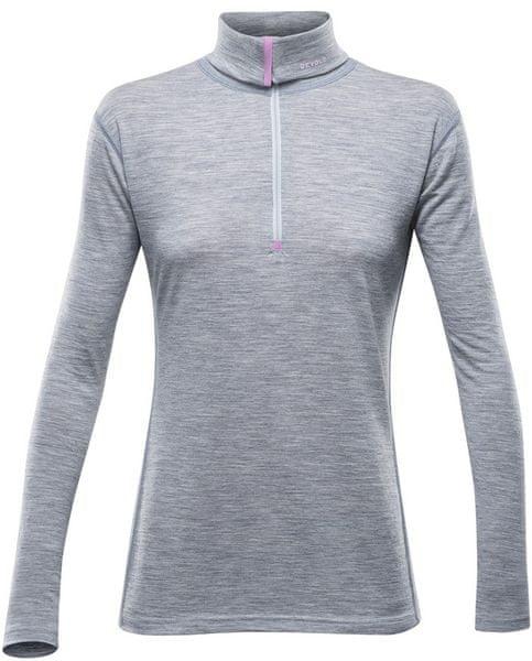 Devold Breeze Woman Zip Neck Grey Melange M