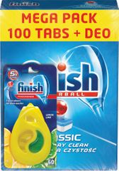 Finish tablete Classic Lemon, 100 komada + DEO Lemon