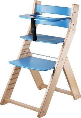 Wood Partner Detská rastúca stolička LUCA natur/modrá