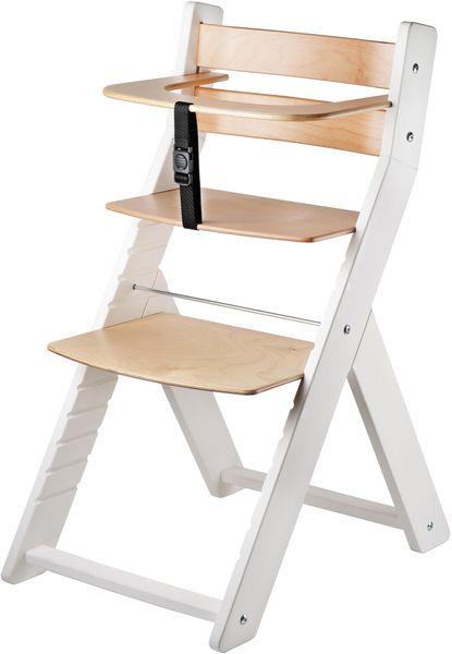 Wood Partner Dětská rostoucí židle LUCA bílá/natur
