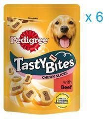 Pedigree przysmak dla psa Tasty Bites Chewy Slices 6 x 155 g