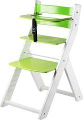 Wood Partner Detská rastúca stolička LUCA biela