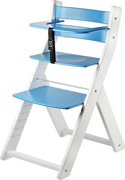 Wood Partner Dětská rostoucí židle LUCA bílá/modrá