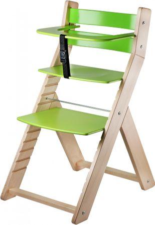 Wood Partner Detská rastúca stolička LUCA natur/zelená