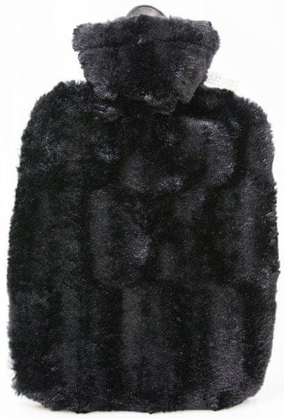 Hugo Frosch Termofor Classic s obalem z umělé kožešiny – černý