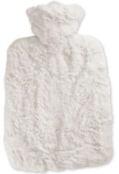 Hugo Frosch Termofor Classic s obalem z umělé kožešiny, bílý