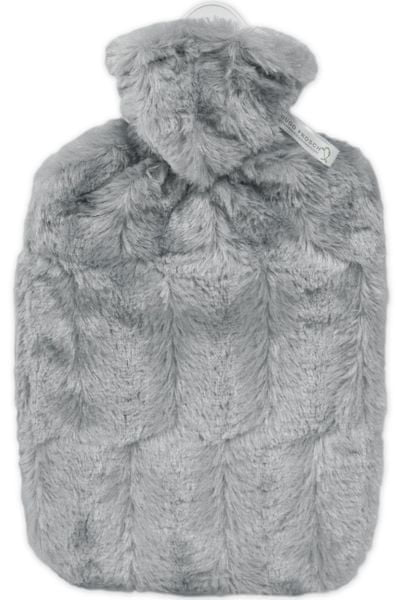Hugo Frosch Termofor Classic s obalem z umělé kožešiny, šedý
