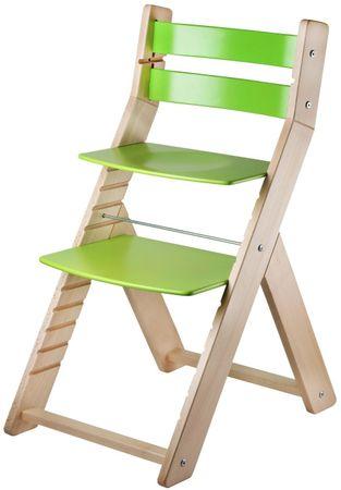 Wood Partner Krzesełko dla dziecka SANDY nature, zielony