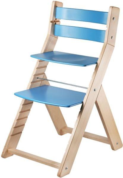 Wood Partner Dětská rostoucí židle SANDY natur/modrá