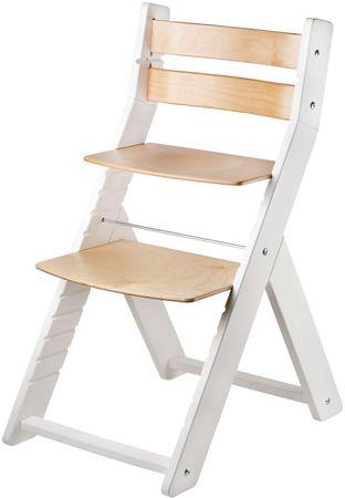 Wood Partner Krzesełko dla dziecka SANDY białe, buk