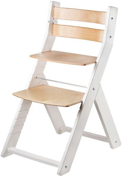 Wood Partner Dětská rostoucí židle SANDY bílá/natur