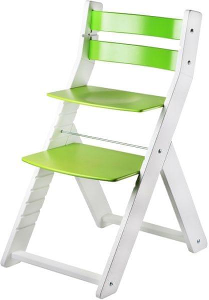 Wood Partner Dětská rostoucí židle SANDY bílá/zelená