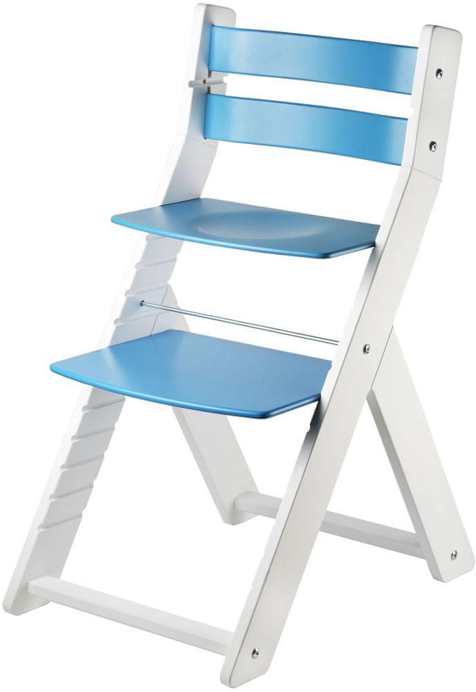 Wood Partner Dětská rostoucí židle SANDY bílá/modrá