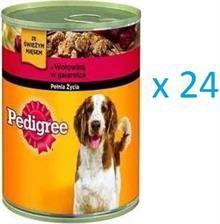 Pedigree mokra karma dla psa w puszce, z wołowiną w galarecie- 24 x 400 g