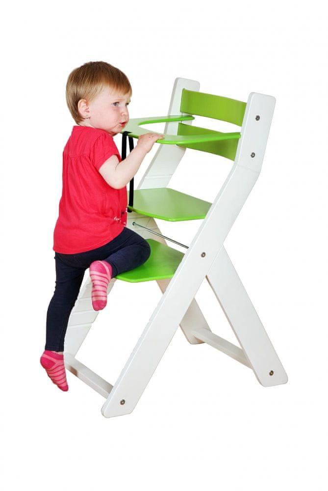 Wood Partner Dětská rostoucí židle SANDY natur/zelená
