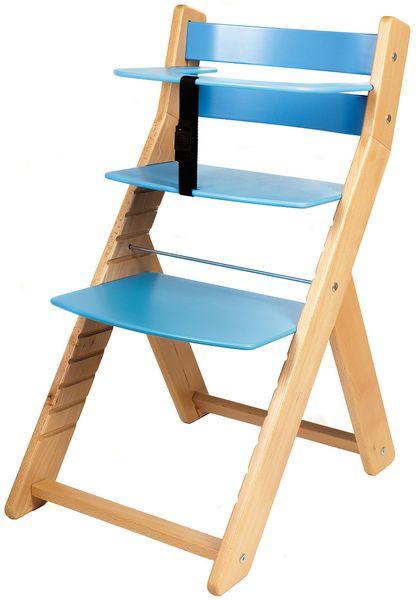 Wood Partner Dětská rostoucí židle UNIZE natur/modrá