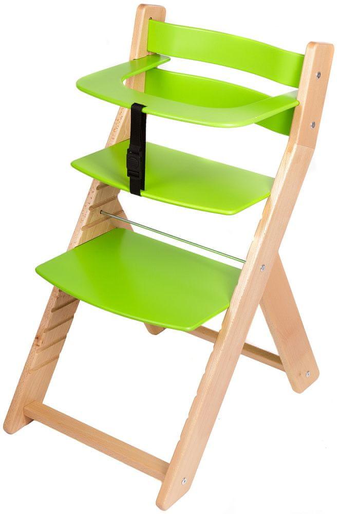 Wood Partner Dětská rostoucí židle UNIZE natur/zelená