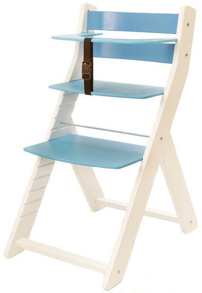 Wood Partner Dětská rostoucí židle UNIZE bílá/modrá