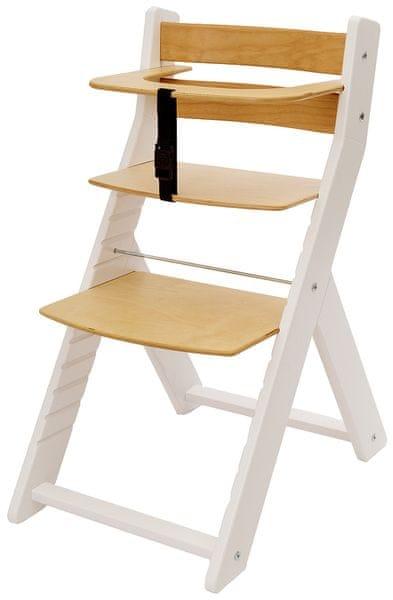 Wood Partner Dětská rostoucí židle UNIZE bílá/natur