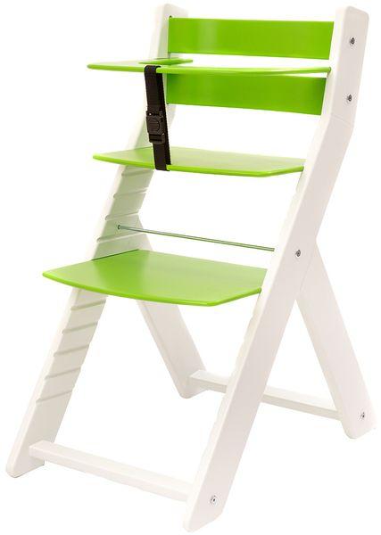 Wood Partner Dětská rostoucí židle UNIZE bílá/zelená