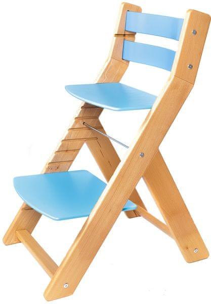 Wood Partner Dětská rostoucí židle MONY natur/modrá