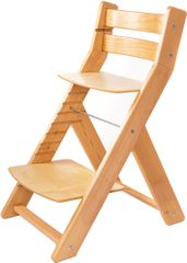 Wood Partner Detská rastúca stolička MONY natur