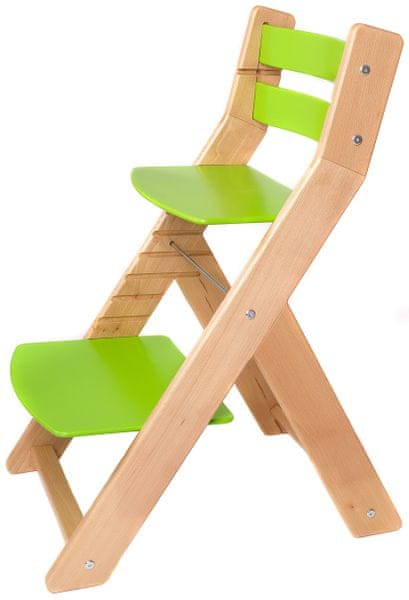 Wood Partner Dětská rostoucí židle MONY natur/zelená
