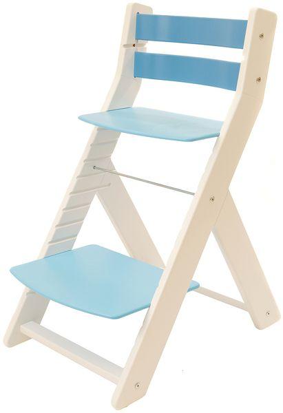Wood Partner Dětská rostoucí židle MONY bílá/modrá