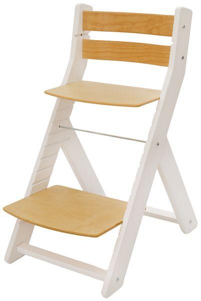 Wood Partner Dětská rostoucí židle MONY bílá/natur
