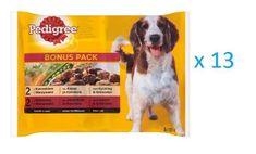 Pedigree saszetki dla psa z kurczakiem i warzywami/ z wołowiną 13 x (4 x 100 g)
